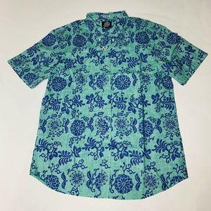 Reyn Spooner Mens Hawaian Shirt Size XXL Royal New